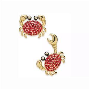 d14c1e1c942fd Kate Spade Pave Crab Earrings NWT NWT